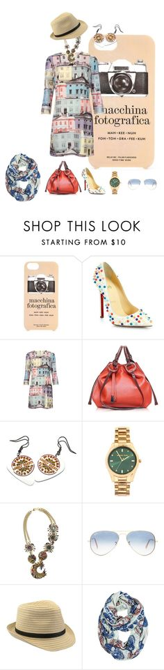 """""""Dreaming of adventure and travel, Barca!"""" by kosmicbaba ❤ liked on Polyvore featuring Kate Spade, Christian Louboutin, Ted Baker, Francesco Biasia, Michael Kors, Erickson Beamon, Ray-Ban and Lucky Brand"""