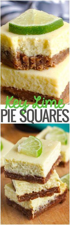 Key Lime Pie Bars - Creamy, smooth, and so flavorful. #keylimepie #keylimepiebars #keylimepiesquares | Littlespicejar.com