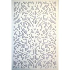 1/4 In. X 32 In. X 4 Ft. White Ginger Dove Vinyl Decor Panel