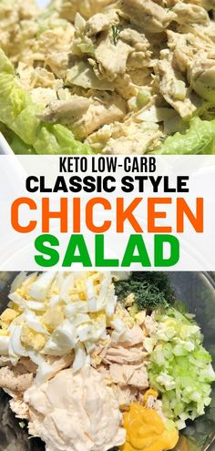 The easiest keto chicken salad done classic style. Low carb chicken salad that makes the perfect keto snack on the go! The easiest keto chicken salad done classic style. Low carb chicken salad that makes the perfect keto snack on the go! Low Carb Lunch, Low Carb Keto, Low Carb Recipes, Diet Recipes, Healthy Recipes, Healthy Low Carb Meals, Coconut Recipes, Recipes Dinner, Lunch Recipes