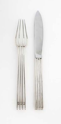 Jean Puiforcat, Prototype fork and knife,c.1930