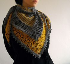 Ravelry: galathea's Striped Mimoza. I made this in different colors but Mom nabbed it. Next time, I am making it in these colors. Just gorgeous!!