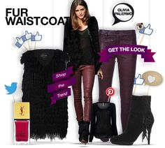 Olivia Palermo - get the look - shopthemagazine.com #oliviapalermo #furwaistcoat