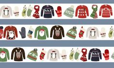Hanna Melin created together with Japanese company Amifa a range of washi tapes. This is the pattern from the Christmas one!