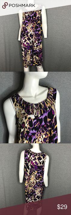 DANA BAUCHMAN Printed Dress DANA BAUCHMAN Printed Dress Dana Buchman Dresses Midi