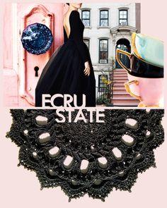 #Victorian #Gothic #Black #Doily #Round #Decoration