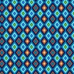 Cotton Quilt Fabric Winter Games Argyle Check Boys Quilts Blue Brown 1/2 Yard - product image