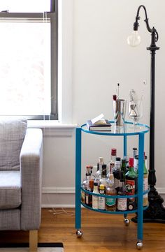 nice bar cart for small spaces #mancave