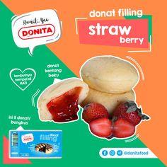 Donita Donat Filling. Donat Kentang Beku Isi Strawberry