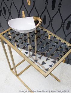 s 17 insanely easy ways to make ikea furniture look amazingly high end, painted furniture, Transform a VITTSJO table with Sharpies