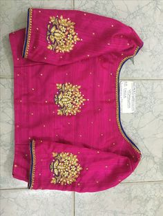 Blue and magenta saree 3 Pattu Saree Blouse Designs, Blouse Designs Silk, Designer Blouse Patterns, Bridal Blouse Designs, Churidar Designs, Simple Blouse Designs, Stylish Blouse Design, Blouse Models, Blouse Styles