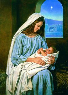 mary and baby jesus lds Spiritual Paintings, Religious Paintings, Religious Art, Christian Images, Christian Art, Animated Christmas Pictures, Lds Art, Sainte Marie, Bible Pictures