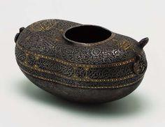 Kashkul - engraved dervish steel bowl from the qajar period (19th c.)