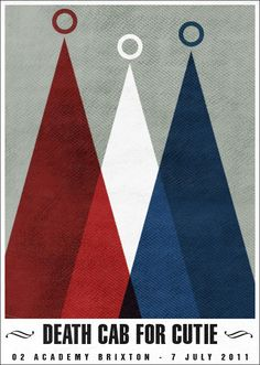 Death Cab For Cutie Poster by A2K Design // Inspiration for the EMRLD14 Team // www.emrld14.com