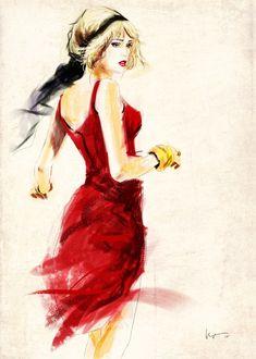 A l'instar de l'Espagnol Jordi Labanda ou encore de laBritanniqueCate Parr, des AméricainsDavid Downton, Eduard Erlikh,les stars incontestées dans le domaine de l'illustration de mode, Floyd Grey manie lui aussi à la perfection ses pinceaux pour mettre en images la mode dans tou