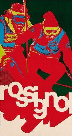 Poster by Studio François, ca. 1970, Rossignol.....réépinglé par Maurie Daboux .•*`*•. ❥