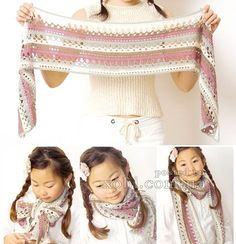 Crochet scarf for children - with diagram at site