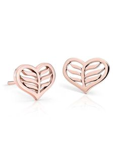 Blue Nile Spiral Arrow Earrings in 14k Rose Gold AwGIMzRyX9
