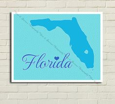 8.5x11 | INSTANT DOWNLOAD | Florida - Wall art | Typographic Poster |Digital File | Printable | Etsy