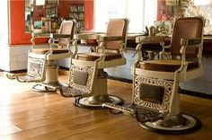 vintage salon chairs | love those chairs.. vintage | Salon ideas .....one day