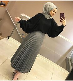 Combination In Stock - Fashion Outfits Islamic Fashion, Muslim Fashion, Modest Fashion, Fashion Dresses, Stylish Hijab, Hijab Chic, Stylish Dresses, Hijab Style Dress, Casual Hijab Outfit