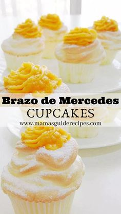 Learn How to make Brazo de Mercedes Cupcake! From now on cravings for Brazo de Mercedes is easy peasy. Your favorite classic Brazo de Mercedes is now in cupcakes. These Brazo de Mercedes cupcakes are much easy to make than the traditional log style cake. Pinoy Dessert, Filipino Desserts, Easy Desserts, Filipino Food, Filipino Dishes, Easy Filipino Recipes, Cold Desserts, Cupcakes, Cupcake Cakes