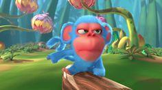 Supper Blue Monkey - Monkaa Animated Short Flim