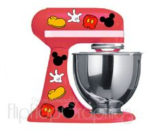 Disney Mickey Mouse Pieces for your Kitchen. I love everything Mickey! Casa Disney, Disney Rooms, Disney Dream, Disney Fun, Disney House, Disney Stuff, Cozinha Do Mickey Mouse, Mickey Mouse Kitchen, Disney Micky Maus