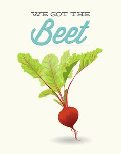 Beet Kitchen Print - We Got the Beet - Poster wall art decor cooking veggie vegetable funny quote aqua teal red raw vegan vegetarian gift Mason Jar Meals, Meals In A Jar, Mason Jars, Kitchen Prints, Kitchen Art, Kitchen Gallery Wall, Milk Cans, Holiday Time, Beets