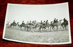 FOTOGRAFIA DE CABO JUBY, SAHARA ESPAÑOL, POLICIA INDIGENA A CAMELLO, AÑO 1932, MIDE 11 X 8 CMS. - Foto 1