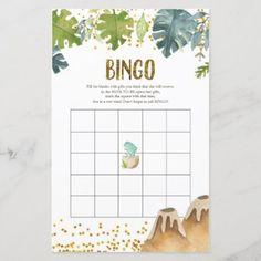 Greenery Dinosaur Watercolor Bingo Game Baby Shower Welcome Sign, Baby Shower Signs, Baby Shower Games, Party Stores, Party Shop, Baby Bingo, Happy Party, Bingo Games, Party Signs