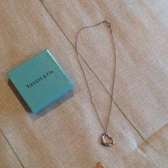 Tiffany Elsa Peretti Heart Necklace Tiffany Elsa Peretti heart necklace.  PLS NOTE: Chain has been shortened to 13 inches.  Comes with original Tiffany box. Tiffany & Co. Jewelry Necklaces