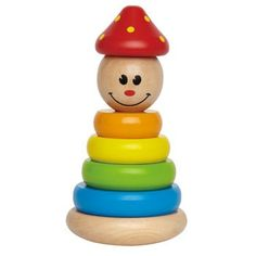Clown Stacker by Hape Toys Toddler Toys, Toddler Activities, Kids Toys, Hape Toys, Toys For 1 Year Old, Stacking Toys, Stacking Rings, Thing 1, Activity Toys