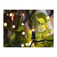 SOLARVET LED lyskæde med 24 pærer, udendørs, solcelledrevet udendørs/solcelledrevet -