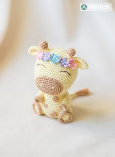 "Crochet Phone Cases Crochet Pattern of Giraffe Ellie from ""AradiyaToys Design"" (Amigurumi tutorial PDF file) - Amigurumi Tutorial, Crochet Amigurumi, Amigurumi Patterns, Amigurumi Doll, Crochet Toys, Mobiles En Crochet, Crochet Mobile, Crochet Simple, Love Crochet"