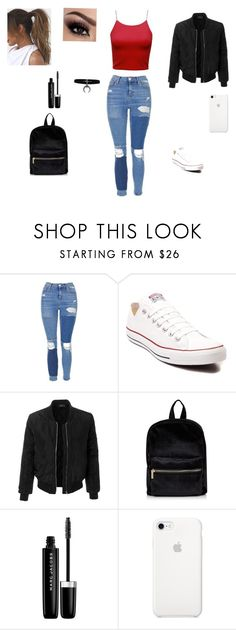 """Untitled #24"" by lveveiros ❤ liked on Polyvore featuring Topshop, Converse, Champion, LE3NO and Marc Jacobs"
