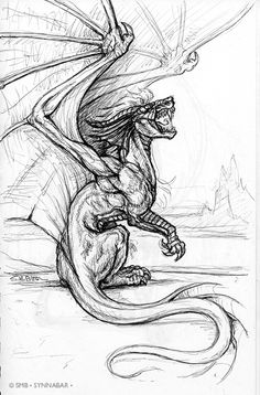 Realistic Dragon Coloring Pages | NOTE: to see my newest Pen Sketchbook Pieces, check out my art blog ...