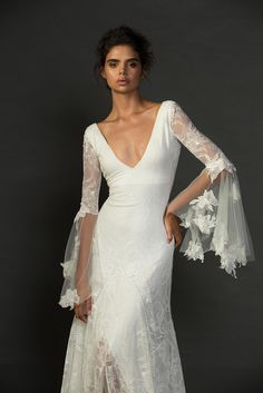 Just in case you needed more Francis in your life. The details! Beautiful bohemian and utterly chic! xx Grace Loves Lace Untamed Romance collection. www.graceloveslace.com.au #weddingdress #bohemianwedding #laceweddingdress #lace