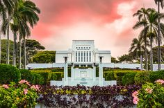 Hawaii - Laie LDS Temple Art Photographs
