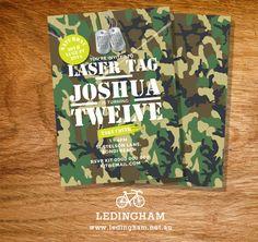 Army Camouflage Laser Tag Birthday Invitation by LedinghamShop