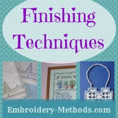 Embroidery ideas for how to make something useful -- Embroidery-Methods.com