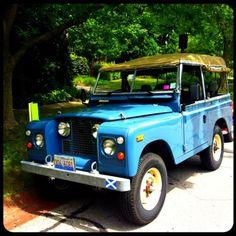 Vintage Land Rover #blue