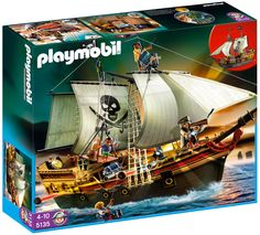 Playmobil Pirates - Pirate Ship and thousands more of the very best toys at Fat Brain Toys. It's the perfect day for a Pirate Adventure in the Playmobil Pirate Ship. Toys R Us, Kids Toys, Playmobil Pirates, Black Friday Toy Deals, Bateau Pirate, Cool Toys For Boys, Pirate Adventure, Walmart, Shopping
