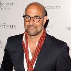Tucci on His 'Most Difficult' Role Yet Stanley Tucci. He's just one of those people who gets better with ageStanley Tucci. He's just one of those people who gets better with age Stanley Tucci, Bald With Beard, Bald Man, Famous Bald Men, Bald Men Style, Raining Men, Older Men, Classic Outfits, Beard Styles