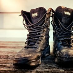 worn out boots