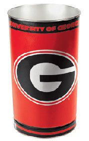 Get rid of your trash with style with this Georgia Bulldogs college waste basket for use in the bedroom, bathroom, office, or game room of any fan of NCAA team Georgia Bulldogs.