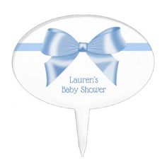 Blue Ribbon Baby Shower Cake Topper - shower gifts diy customize creative
