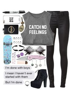 """// c a t c h n o f e e l i n g s //"" by tumblr-fluid ❤ liked on Polyvore featuring Diesel, Speed Limit 98, Sharpie, ASOS and Impulse"