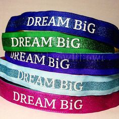 DREAM BiG! Shoe Laces and Bibs Team In Training Leukemia & Lymphoma Society Beautiful no slip, adjustable headband! The perfect addition to your
