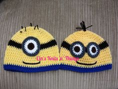 Worker Hat, Yellow Worker Hat, Baby worker Hat, Child Worker Hat, Adult worker Hat, Crochet Hat - pinned by pin4etsy.com